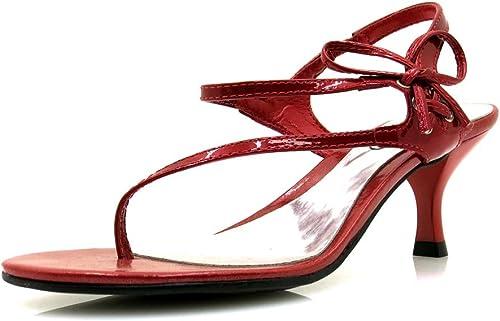 VIA UNO zehensteg sandale SANDALES CUIR VERNI CHAUSSURES