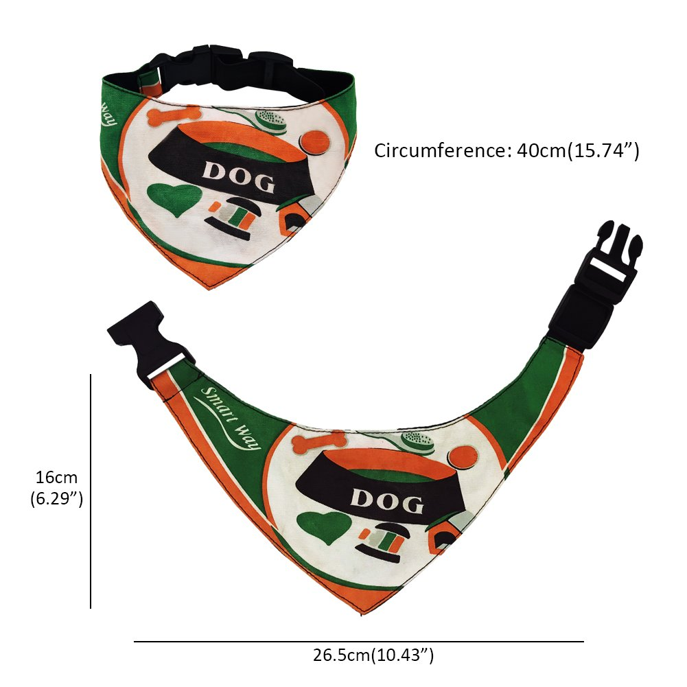 SW Dog Bandana Pet Scarf Neckerchief Collar Adjustable Pet Fashion Accessory for Medium Large Cats Accessories Dress
