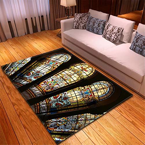 HADIY Area Rugs Notre Dame de Paris Modern Carpets Indoor for Hard Floors Door Mat Soft for Bedroom Living Room Home Decor 120x180CM (C)
