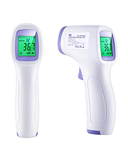 Medical Digital Infrared Thermometer for Fever with Instant Fever Alarm Accurate Reading and Memory Function Thermometer for Babies Kids and Adults Non-Contact Forehead Thermometer