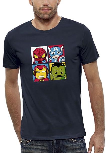PIXEL EVOLUTION Camiseta 3D 4 Super Heroes en Realidad Aumentada Hombre: Amazon.es: Ropa y accesorios