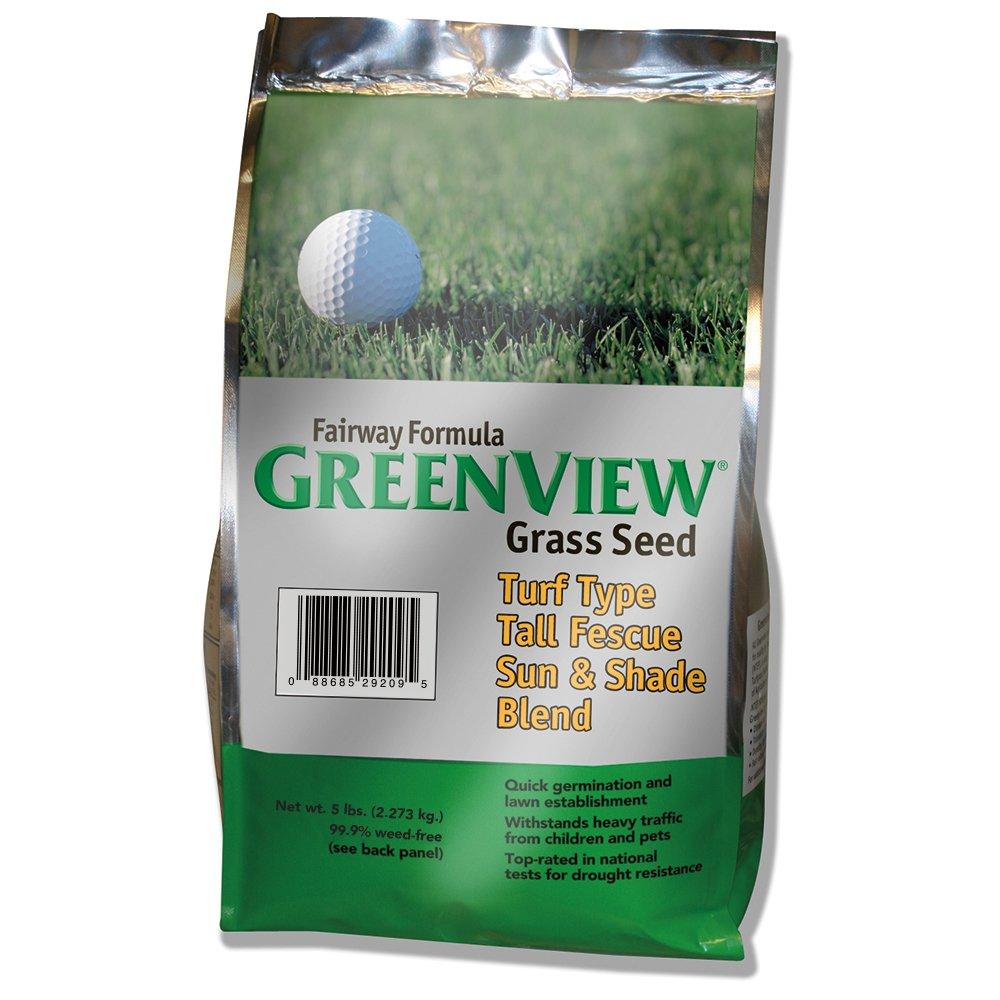 GreenView Fairway Formula Grass Seed Turf Type Tall Fescue Sun & Shade Blend, 5 lb Bag