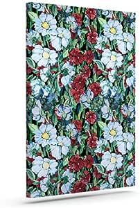Kess InHouse DLKG Design Giardino Garden Flowers Outdoor Canvas Wall Art, 10 by 12-Inch