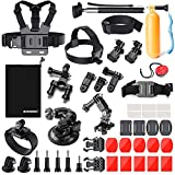Zookki 39-in-1 Accessories Kit for GoPro Hero 5 4 3+ 3 2 1 Black Silver, SJ4000 SJ5000 SJ6000, Camera Accessory Kit for Xiaomi Yi/DBPOWER/WiMiUS/SJCAM
