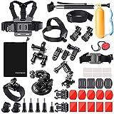 Zookki 39-in-1 Accessories Kit for GoPro Hero 5 4 3  3 2 1 Black Silver, SJ4000 SJ5000 SJ6000, Camera Accessory Kit for Xiaomi Yi/DBPOWER/WiMiUS/SJCAM