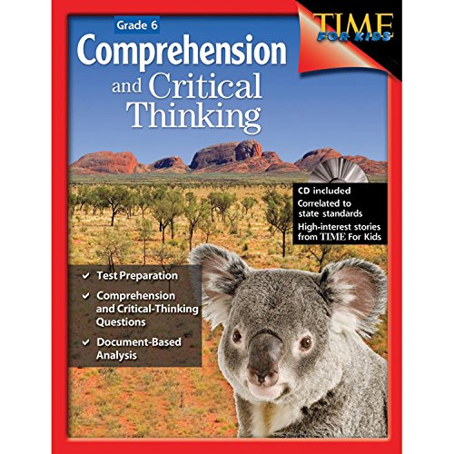 "{     ""DisplayValue"": ""Comprehension and Critical Thinking 6th Grade \u2013 Sixth grade workbook with lessons to improve comprehension, critical thinking and test taking skills"",     ""Label"": ""Title"",     ""Locale"": ""en_US"" }"