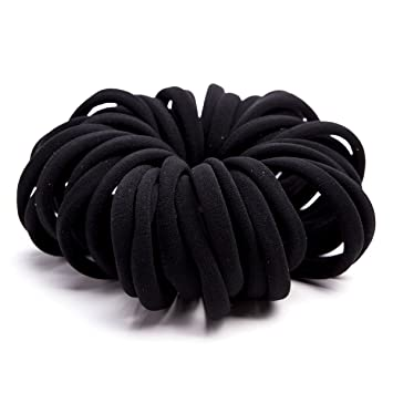 Amazon.com   Miuance Elastic Hair Ties Hair Ties Bands Rope No Crease Elastic  Fabric Large Cotton Stretch Ouchless Ponytail Holders 1fe030f14d1