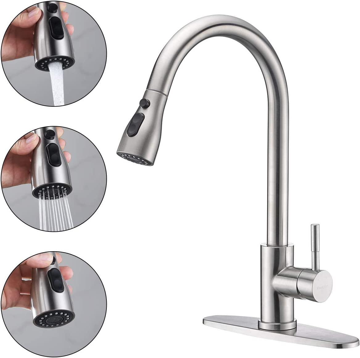 Keonjinn Touch On Kitchen Sink Faucets