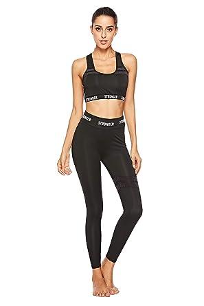 vente la plus chaude magasiner pour authentique codes promo Landove Vetement Sport Femme Fitness Ensemble 2 Piece Crop ...