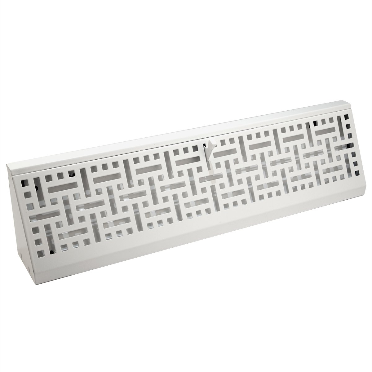 Accord ABBBWHB18 Baseboard Register with Wicker Design, 18-Inch(Duct Opening Measurement), White