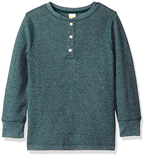(Crazy 8 Boys' Big Long Sleeve Thermal Henley, Olive Green XL)