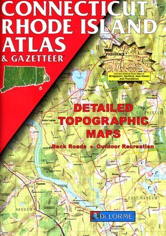 Connecticut Rhode Island Atlas & Gazetteer by DeLorme Publishing Company - Rhode Island Malls Shopping