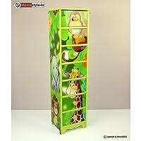 furniture-store24 Children´s Chest 7 Drawers Cabinet Storage Kids Wardrobe Jungle Green