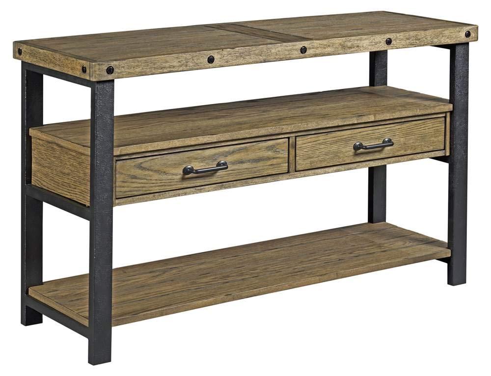 Amazon.com: Hammary 48.0 in. Mesa de sofá con acabado de ...