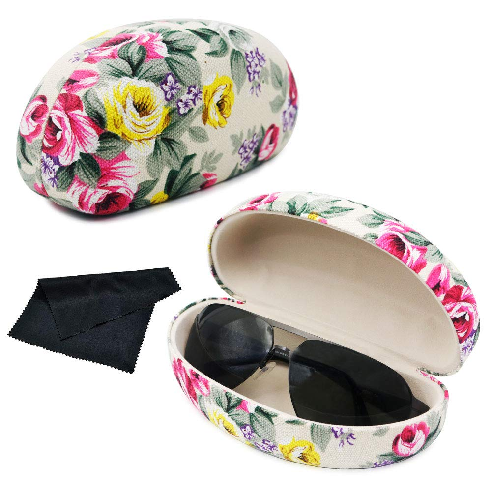 Guanqiao Extra Large Sunglass & Eyeglass Cases Unisex Durable Protective Holder for Oversized Glasses
