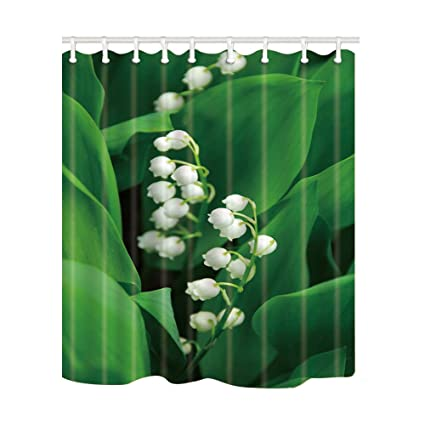 Amazon NYMB Plant Decor Lily Of The Valley Shower Curtains
