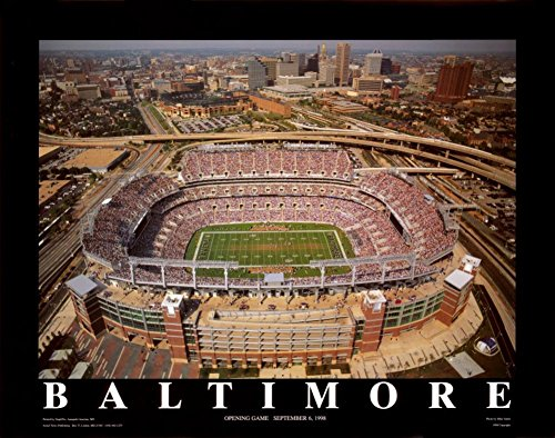 Ravens Paper Baltimore (Baltimore, Maryland - Ravens Stadium by Mike Smith - 22 x 28 inches - Fine Art Print / Poster)