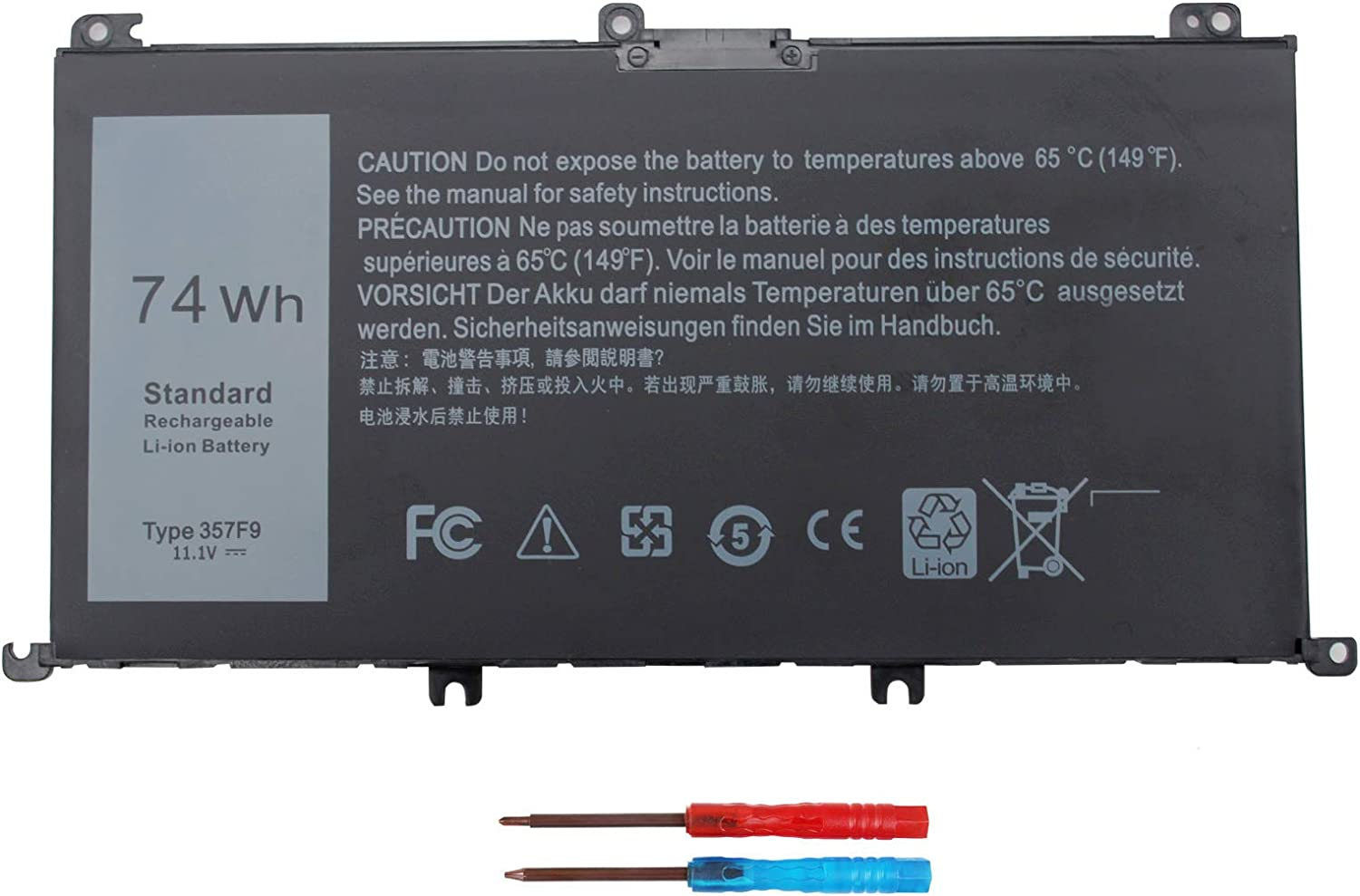 Shareway 357F9 Laptop Battery Compatible with Dell Inspiron 7000 Dump 15 7557 7559 7566 7567 7759 5576 5577 INS15PD Series 0GFJ6 71JF4 071JF4 11.1V