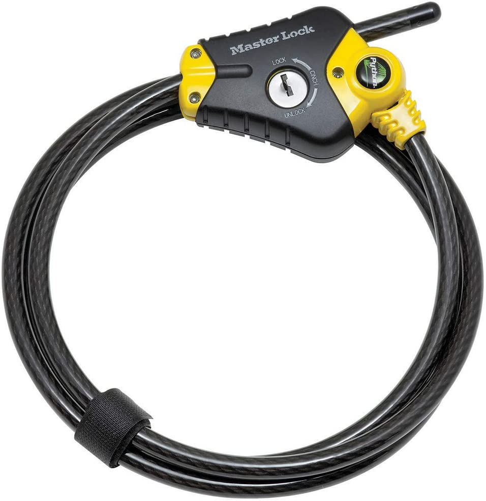 6 ft Master Lock Cable Lock Python Adjustable Keyed Cable Lock 8417D Long