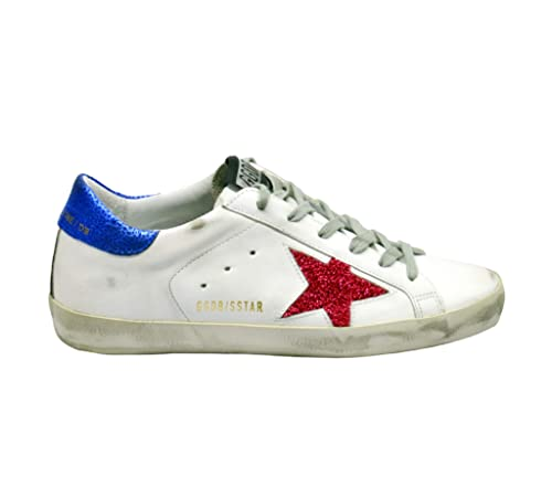 GOLDEN GOOSE G34WS590M32 Mujer Blanco Cuero Zapatillas: Amazon.es: Zapatos y complementos