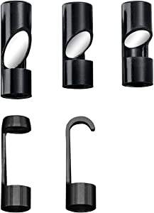 DEPSTECH Hook Magnet Side View Mirror Set Including 30 45 60 Degree Mirror for 8.5mm Depstech Wireless Endoscope Camera - Black