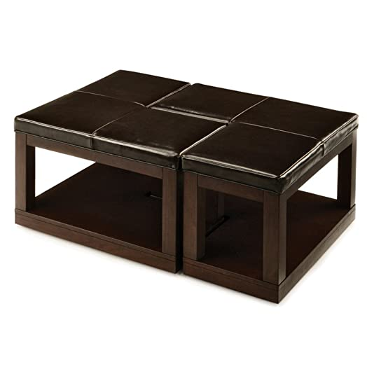 Pieces L Shaped Coffee Table Ottoman