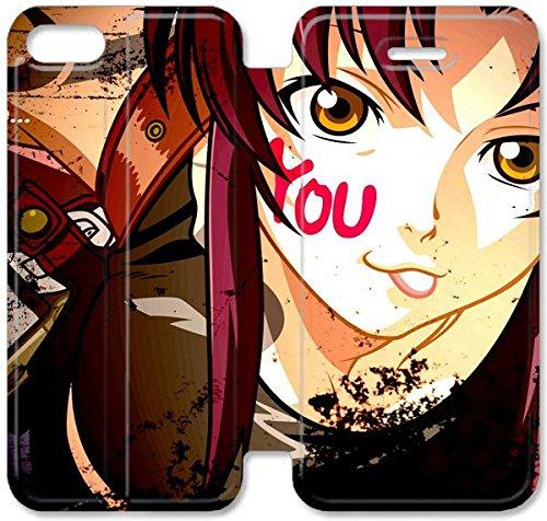 Funda iPhone 6 6S 4.7 Inch Funda de cuero [Buen regalo bonito regalo] [Black Lagoons] [Card/Cash Slots] Protectora caja del teléfono para iPhone 6 6S 4.7 Inch I8G7KF