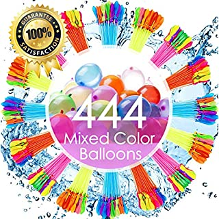 Water Balloons for Kids Girls Boys Balloons Set Party Games Quick Fill 440 Balloons 12 Bunches for Swimming Pool Outdoor Summer Fun (Color May Vary) GE01