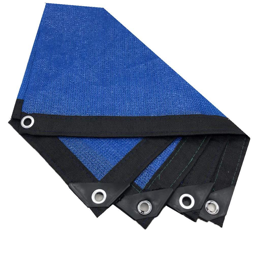 nuovi prodotti novità Tarpaulin Tarpaulin Tarpaulin Rete di Ombreggiatura -95% Crittografia di Ombreggiatura del Tasso Isolamento di Bordi di 8 Pin Protezione Solare Cortile Balcone Piscina Ombra Nero Blu  Prezzo al piano