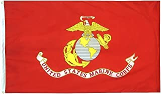 product image for Annin Flagmakers Model 3418 U.S. Marine Corps Military Flag 70% Polyester/30% Cotton, 3x5 ft, 100% Made in USA to Official Specifications. Officially Licensed