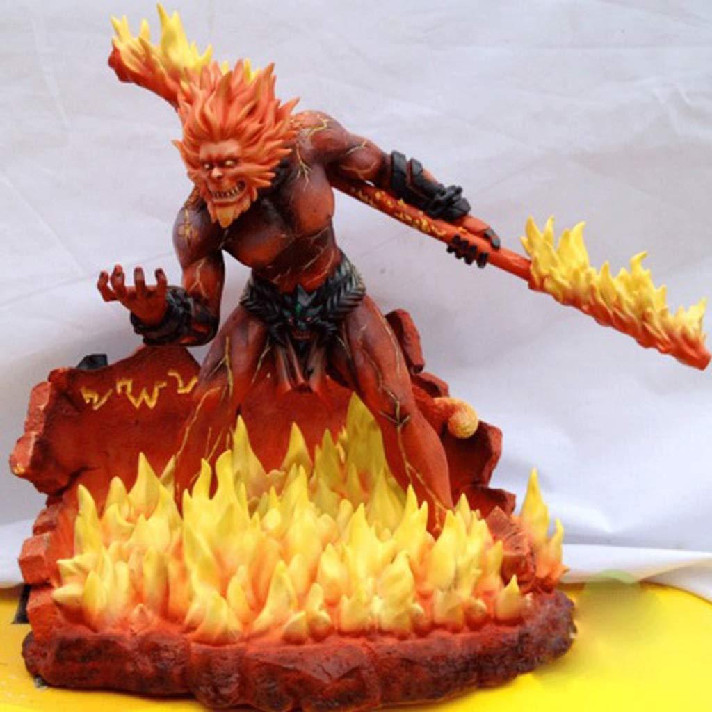 GLJJQMY Giocattolo Modello in Movimento Gioco Personaggio Eroe Lega Giocattolo Statua Decorazione Souvenir Oggetti da Collezione Artigianato Regali di Festa LOL Sun Wukong 28CM Giocattoli di