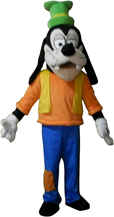 Dog Mascot Costume Tan Fur Cosplay Animal Party Game Fancy Dress Adults Parade