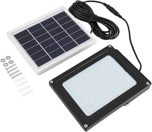 Lámpara solar para exterior, 2 unidades, HETP 150 LED, Jardín con detector de movimiento, lámpara de pared de seguridad, resistente al agua, lámparas solares de jardín, ángulo de 120°, 4000 mAh: Amazon.es: Iluminación