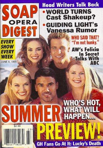 Ingo Rademacher, Shemar Moore, Alison Sweeney, Rebecca Herbst, Adrienne Frantz - June 8, 1999 Soap Opera Digest Magazine