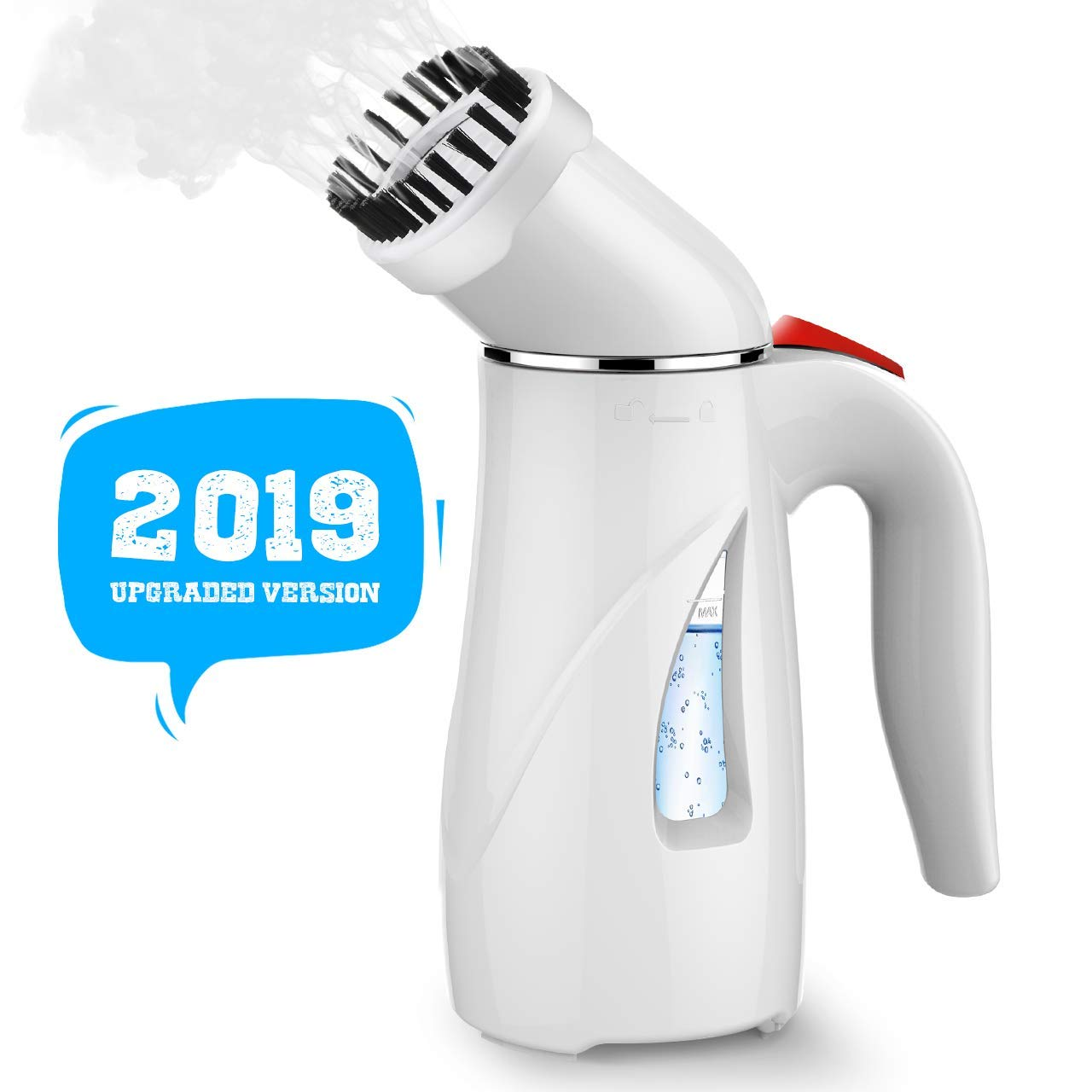 Homitt Steamer for Clothes, Handheld Steamer, 7-1 Portable Clothes Steamer/Wrinkle Remover/Sanitize/Sterilize/Refresh with Fast Heat-up Function& Safe Use for Travel/Home/Kitchen[White] by Homitt