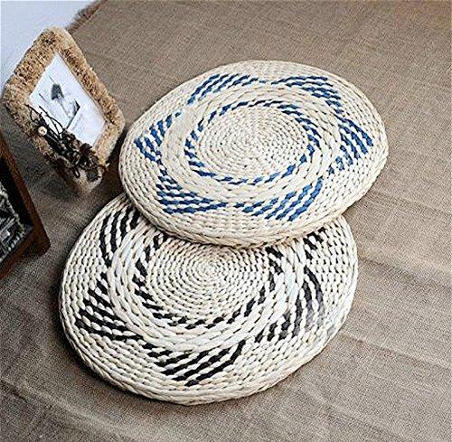 LB Tatami japonés estilo tejido a mano cojín de suelo ...