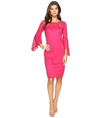bd6f584ed06 Laundry by Shelli Segal Womens Bell Sleeve Lace Cocktail Dress at Amazon  Women's Clothing store: