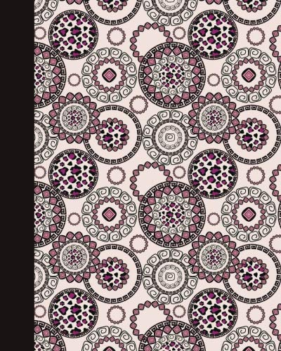 Journal: Animal Print Mandala (Rose and Pink) 8x10 - GRAPH JOURNAL - Journal with graph paper pages, square grid pattern (8x10 Mandala Design Graph Journal Series)