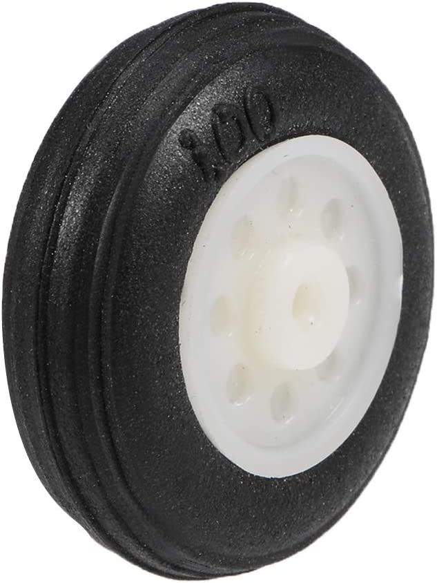 uxcell Tire and Wheel Sets for RC Car Airplane,PU Sponge Tire with Plastic Hub,1