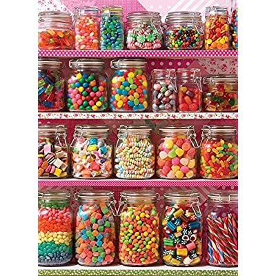 "Cobble Hill 500 Pieces 24""X18"" Candy Shelf Jigsaw Puzzle, Candy Shelf: Toys & Games"
