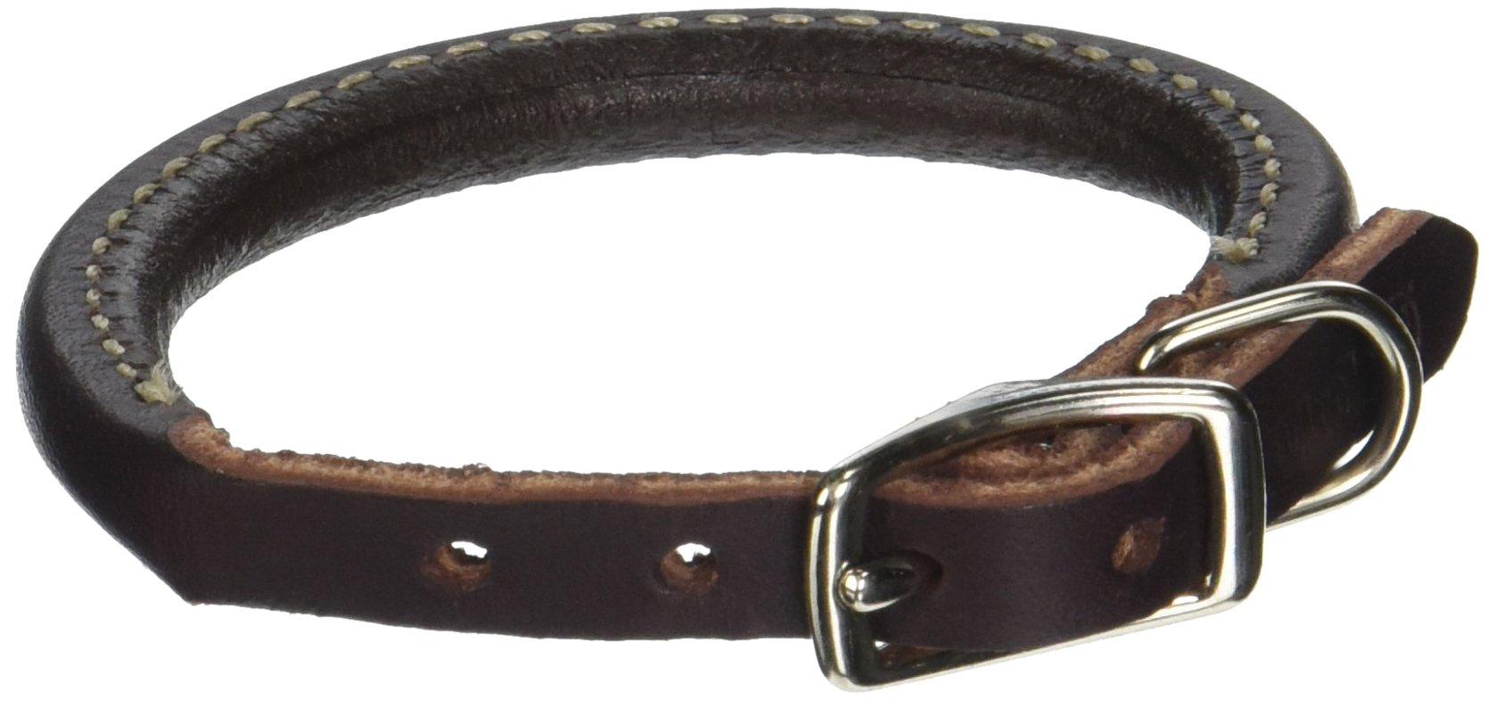 Coastal Pet Products 2203 Leather Latigo Round Dog Collar, 3/8 by 10-Inch