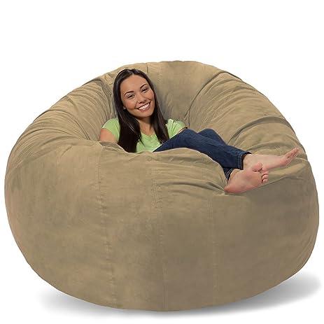 Comfy Sacks Huge Pillow Memory Foam Bean Bag Chair Toast Pebble
