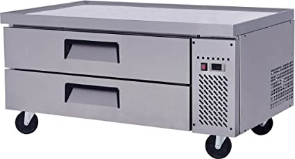 Chef Base Work Food Prep Table 48u0026quot; L   2 Easy Slide Drawers    Refrigerated