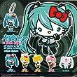 Full set of 6 Kitan Club Gacha Hatsune Miku x Hello Kitty Vocaloid x Hello Kitty ball chain mascot secret enters (japan import)
