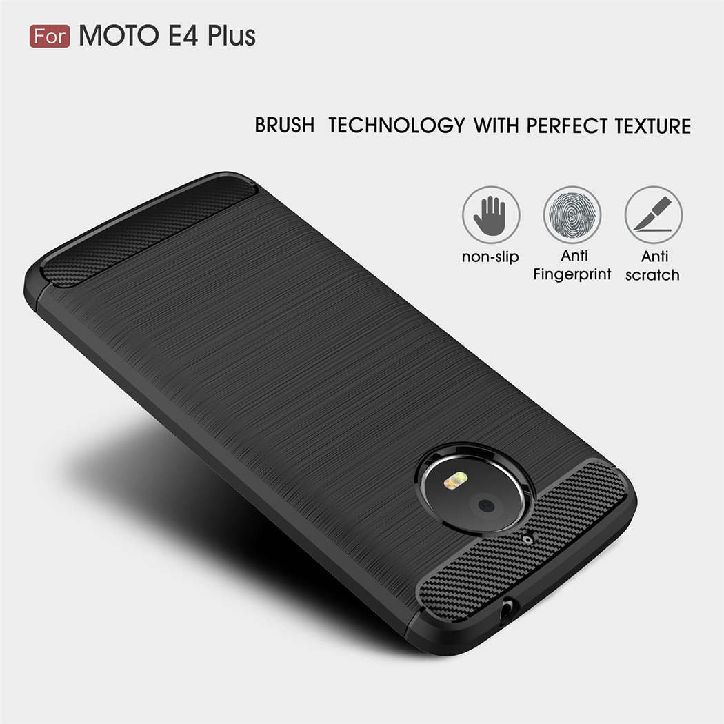 Amazon.com: Slim Soft Motorola Moto E4 Plus Caso [Armor ...