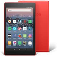 "All-New Fire HD 8 Tablet | Hands-Free with Alexa | 8"" HD Display, 16 GB, Punch Red - with Special Offers"