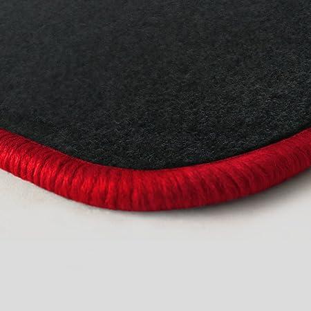 Autoteppich Stylers Randfarbe Nach Wahl Passgenaue Fußmatten Aus Nadelfilz Graphit Mit Rotem Rand 103 Auto