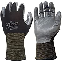 12 Pack - Showa Atlas 370BLK Nitrile Tough Gloves - Medium by Showa