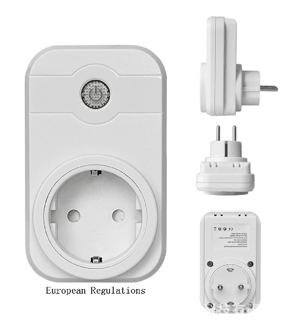 Smart Wifi Outlet Plug Alexa App Remote Control Control Timer Switch Home Electronics Socket (European Regulations)