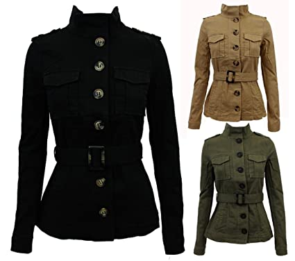 AXTokyo Womens Military Light Canvas Style Jacket Coat (Large (UK ...